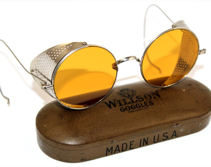 1920s Vintage Driving Goggles / Sunglasses, Motorcycle Goggles