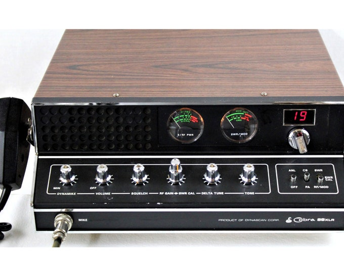 1970s Cobra 89XLR 40-Channel Citizens Band 2-Way Radio, Base Station Radio, CB Radio