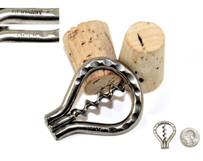 Miniature German Travel Corkscrew, Miniature Folding Bow Corkscrew