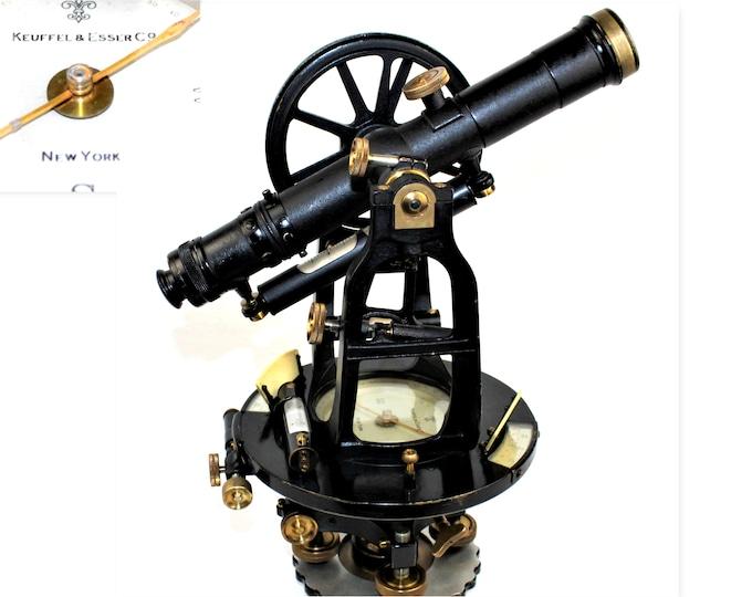1928 Keuffel & Esser Surveyors Transit and Case, SN 55495, Surveying Instrument
