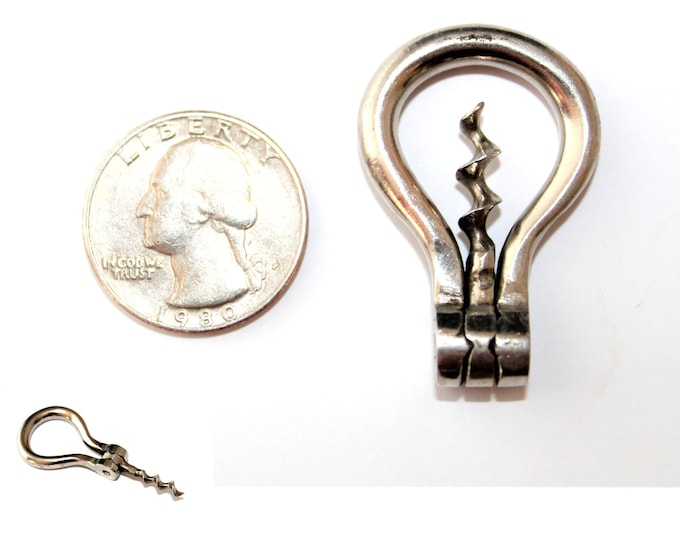 Antique Miniature Apothecary Folding Bow Corkscrew