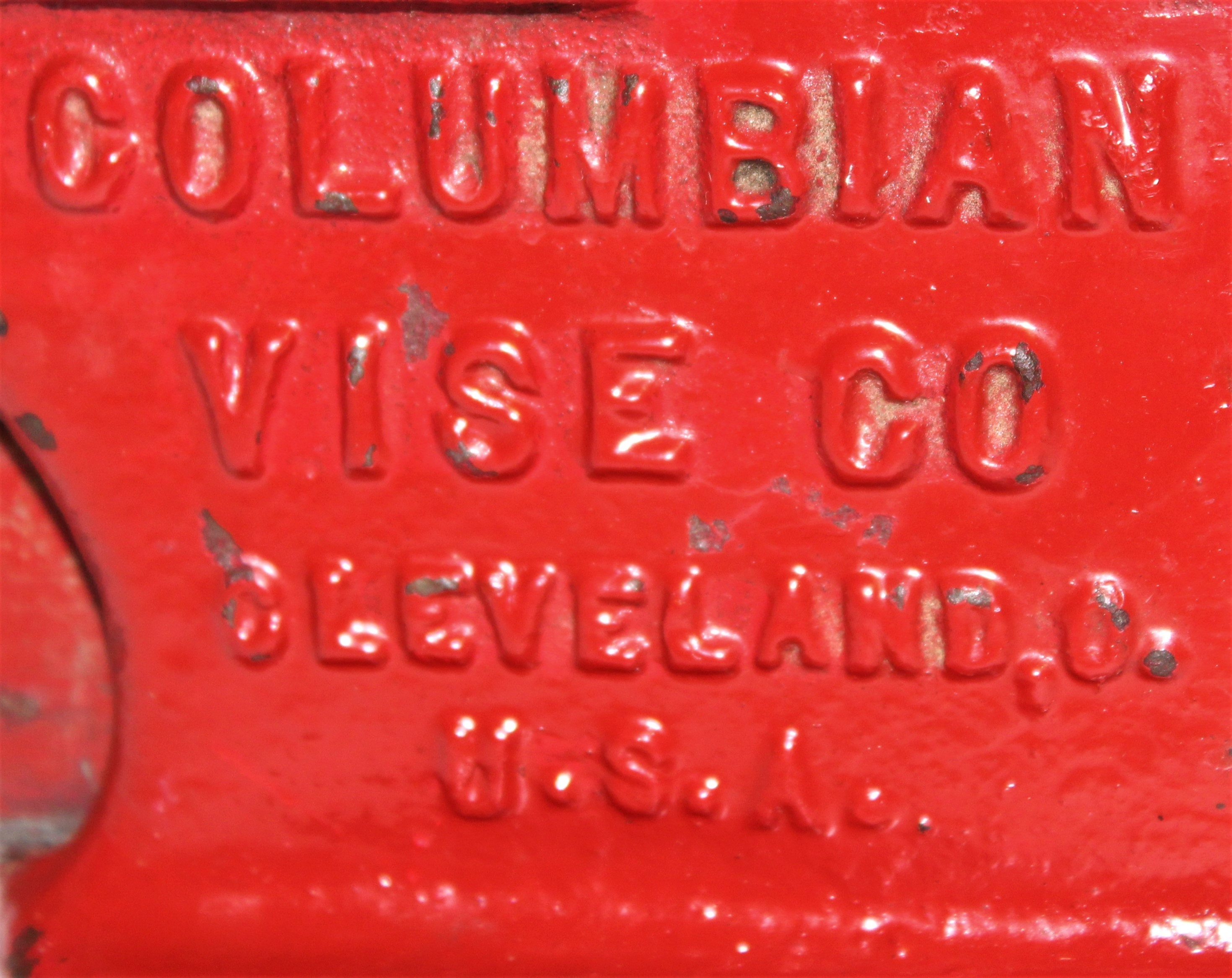 Vintage USA made Columbian No  43-1/2, Vise Made in Cleveland OH