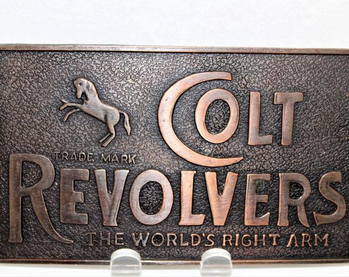 Vintage Colt Revolvers Belt Buckle, Retro Belt Buckle