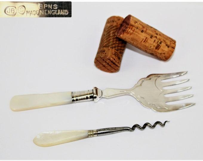 Antique Corkscrew / Perfume Corkscrew / Dessert Serving Fork
