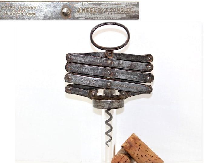 Antique Corkscrew, Wier's 1884 Compound Lever Corkscrew, Wine Bottle Opener