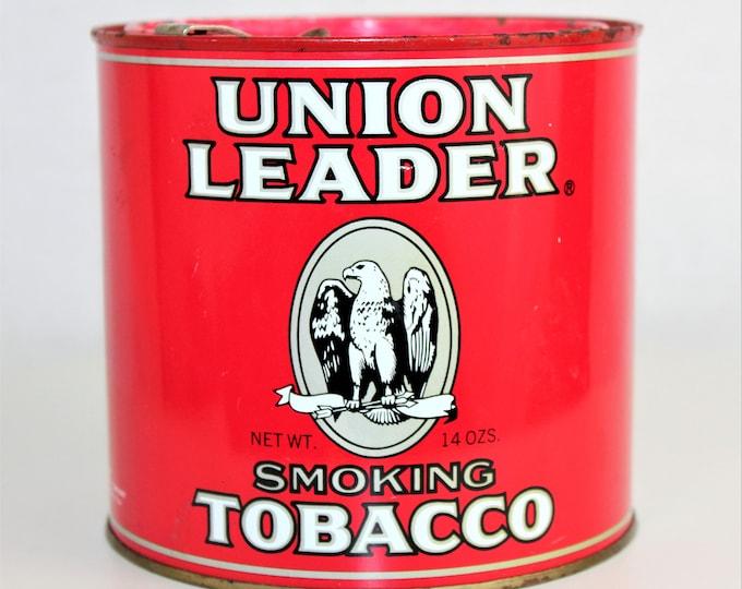 Vintage Union Leader Tobacco Tin, Tobacciana
