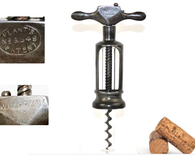Antique 1884 English Corkscrew, Plants Patent, The Wulfruna, Wine Bottle Opener