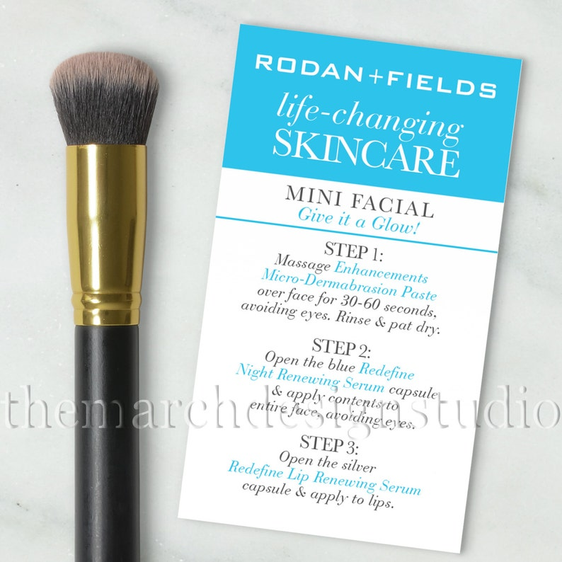 Rodan and Fields Mini Facial Cards, Instant Download, Rodan and Fields  Facial Business Card Size, Postcard, Life Changing Skincare