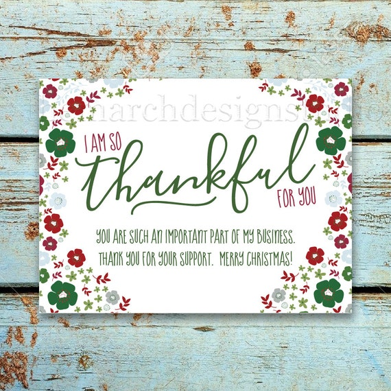 Business christmas thank you card printable instant etsy image 0 colourmoves
