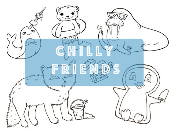 Chilly Friends Coloring Sheets