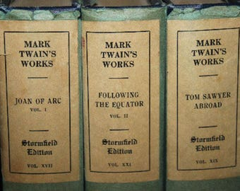 Stormfield Edition Mark Twain books Mark Twains Works Mark Twain Book Set
