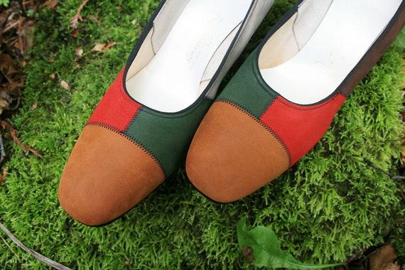 Vintage Multicolored Shoes 9.5 N, Vintage Suede Sh