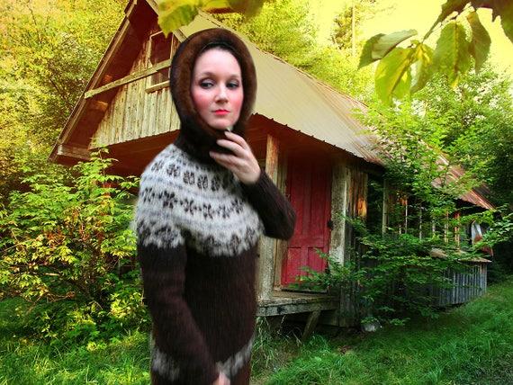 Vintage Hand Knit Sweater Set, Vintage Shetland Sw