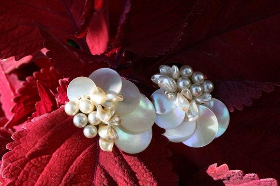Louis Rousselet Faux Pearl Clip Earrings, Louis Ro