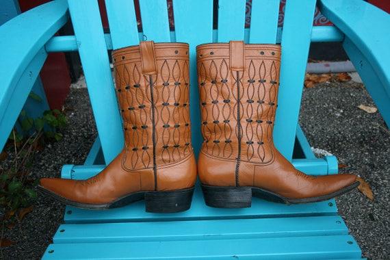 Vintage Camel Cowboy Boots Womens Camel Cowboy Boo