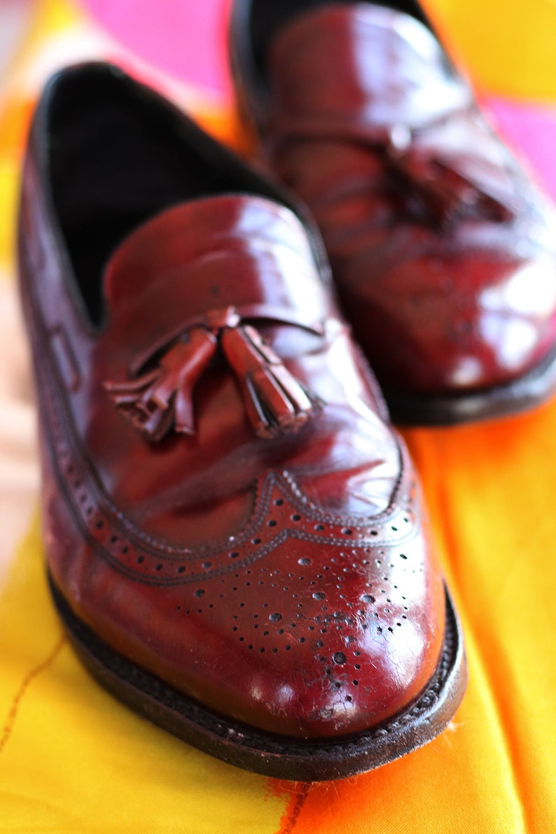 60b710e3f4 Vintage Florsheim Imperial Brogue Wing Tipped Shoes 11 D mens