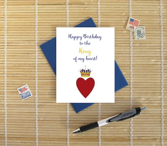 Joyeux Anniversaire Au Roi De Mon Coeur Romantique Doux Anniversaire Carte Pour Lui