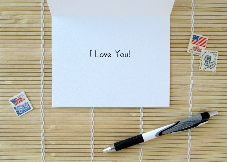 Couple /& Moon Thank You Card \u2022 Love Card \u2022 Vintage Beach \u2022 Card Set