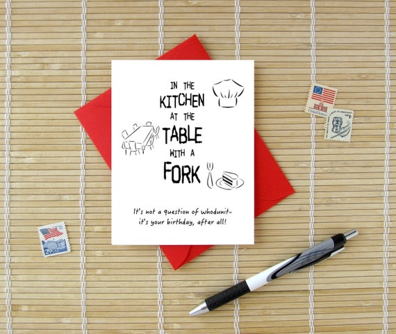 Whodunit Birthday Card Funny Mystery Lovers Birthday Card For Him Her Teens Or Kids Choose Envelope Color
