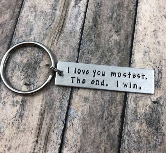 Funny Gifts for Him//Her,I Loved You Once I Love You Still Always Have Always Will Stainless Steel Engraved Keychain Anniversary Birthday Valentines Day Key Ring