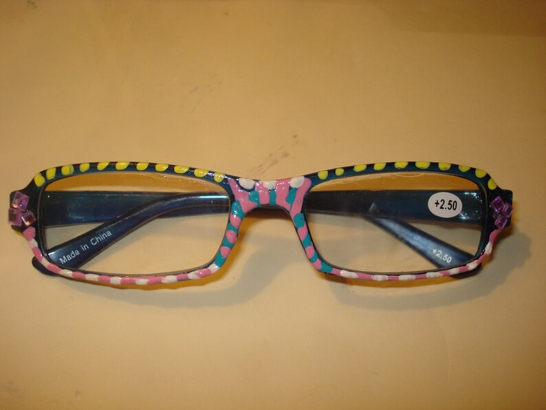 Handpainted Reading Glasses image 0