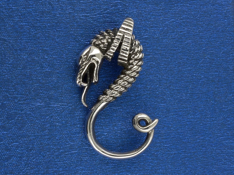 Sterling Silver Naga Snake Pendant Jewelry Gift Jewelry Gift