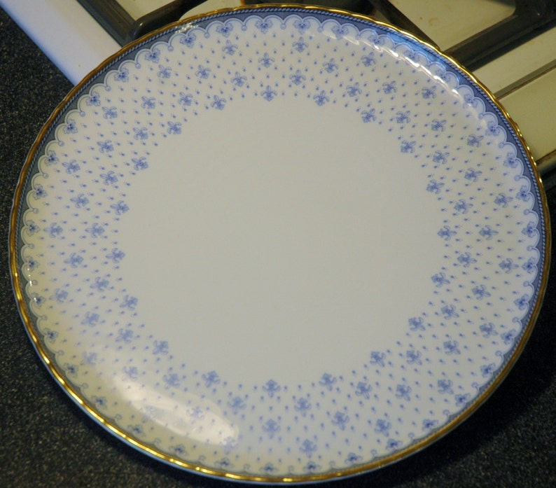 25/% off...Beautiful Vintage Porcelain Quinta Nova Cake Plate...Portugal...was 99.00