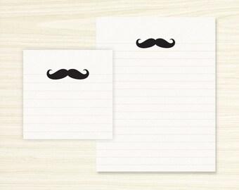 Note Set - Mustache Note Pad & Sticky Note