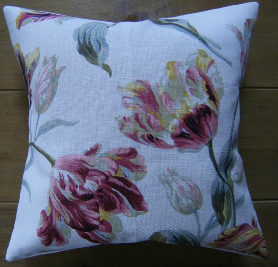 "Laura Ashley Designer Cushion Cover /""GOSFORD/"" CAMOMILE Fabric Various Sizes"