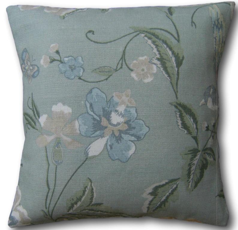 Designer Cushion Covers Summer Palace Eau de Nil Green Laura image 0