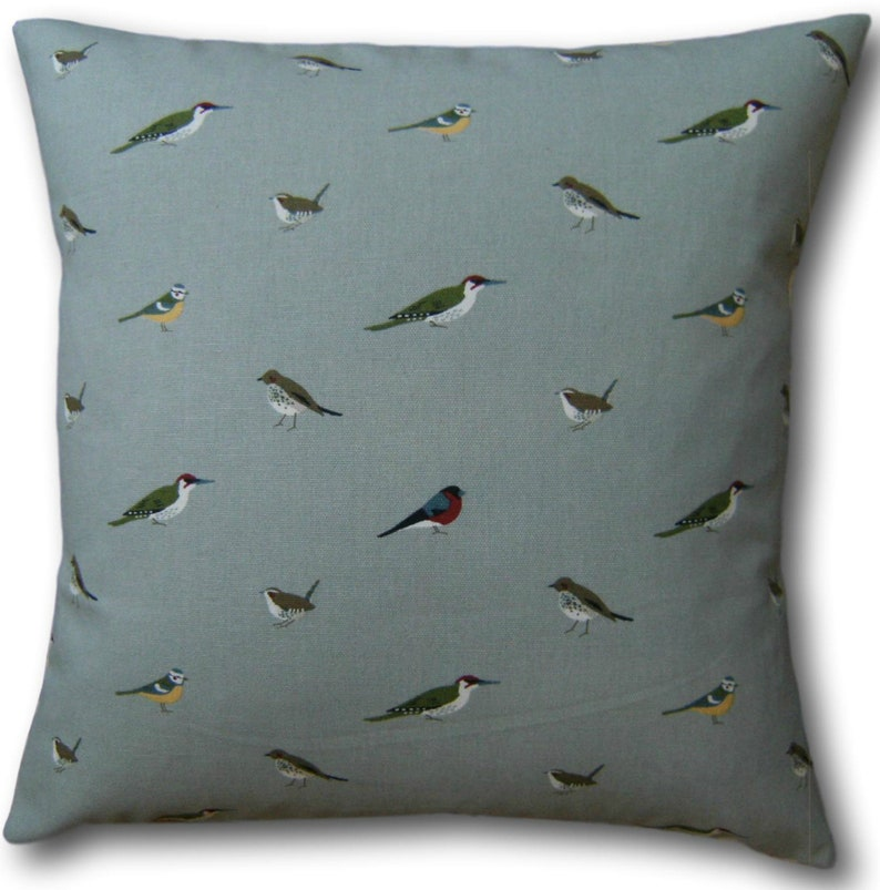 Cushion Covers in Sophie Allport Garden Birds Fabric Scatter image 0