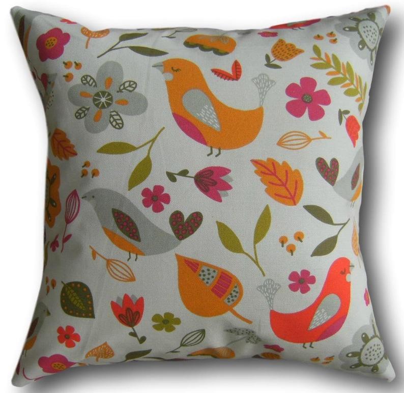 Orange Cushion Covers Dalarna Tutti Frutti Scandinavian Retro image 0