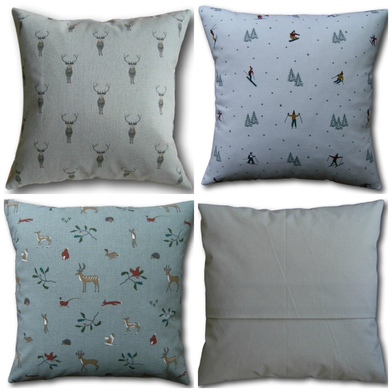 Cushion Covers made with Sophie Allport Highland Stags image 0
