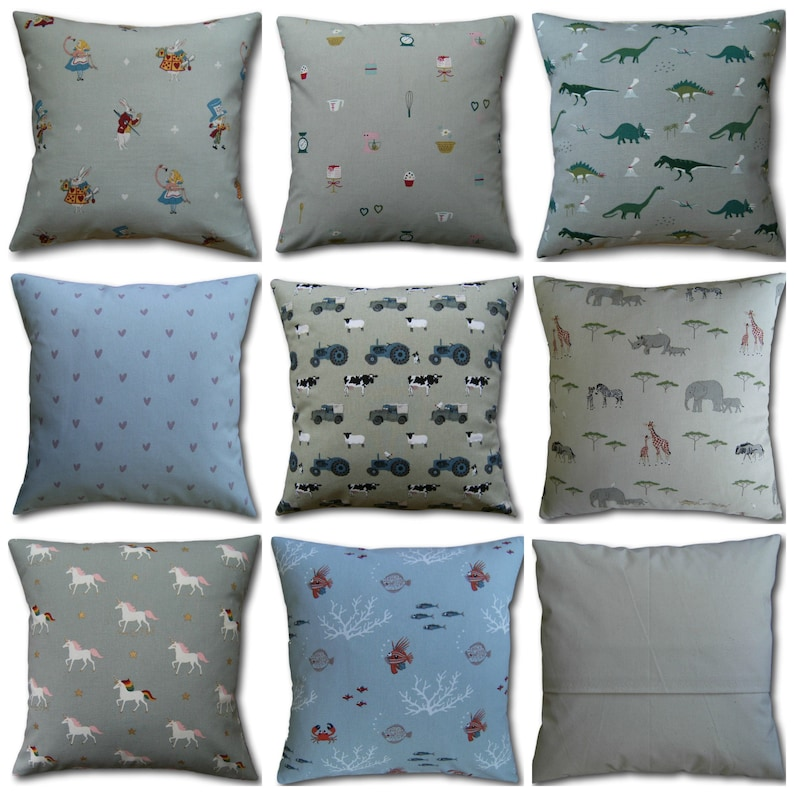 Children's Designer Cushion Covers made in Sophie Allport image 0