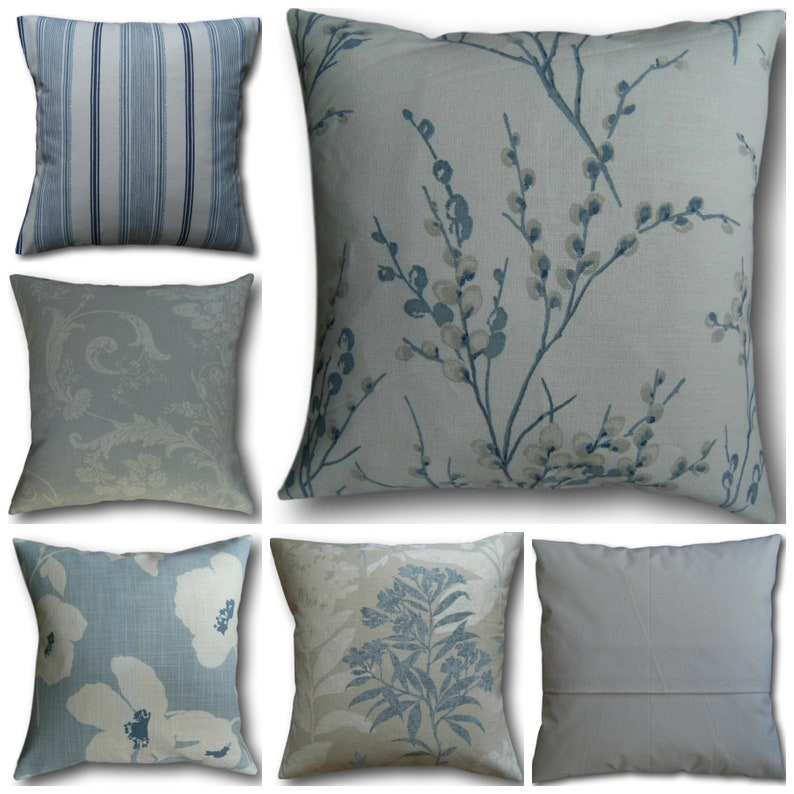 Cushion Covers handmade in Laura Ashley Seaspray Blue Fabric image 0