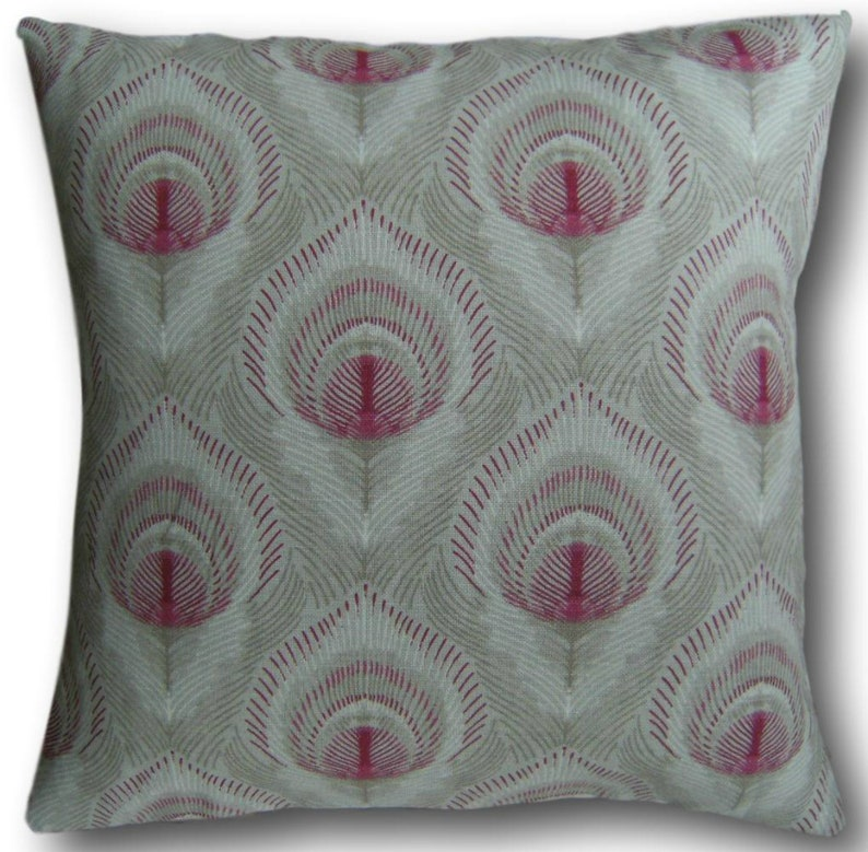 Designer Cushion Covers Montague Ruby Red Laura Ashley Fabric image 0