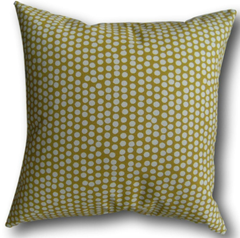 Cushion Covers made with Fryett's Spotty Ochre Yellow image 0