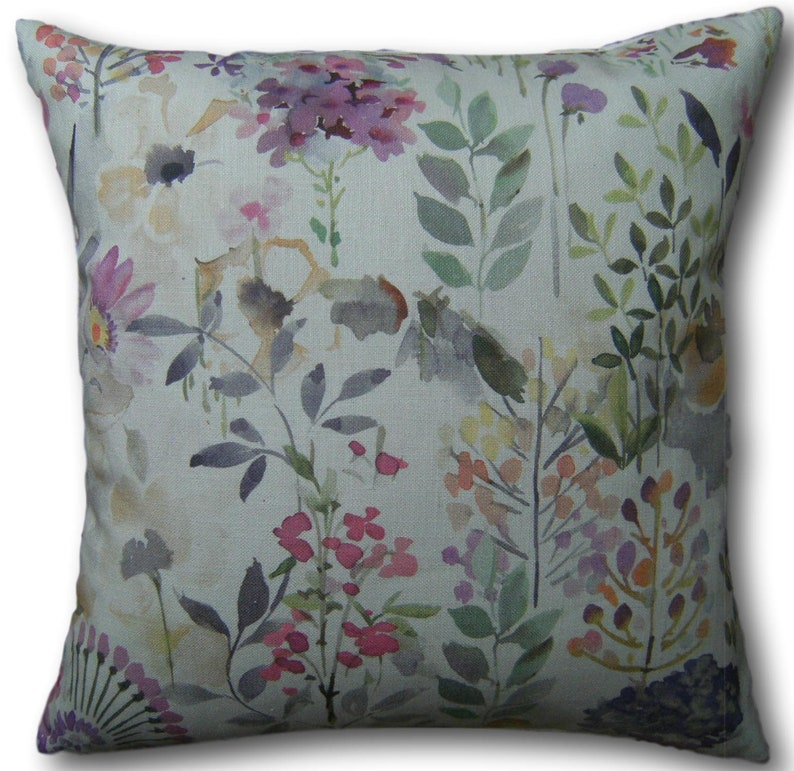 Floral Cushion Covers Aylesbury Heather Pink Mauve Scatter image 0