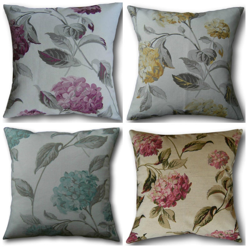 Designer Cushion Covers Hydrangea Berry Duck Egg Camomile or image 0
