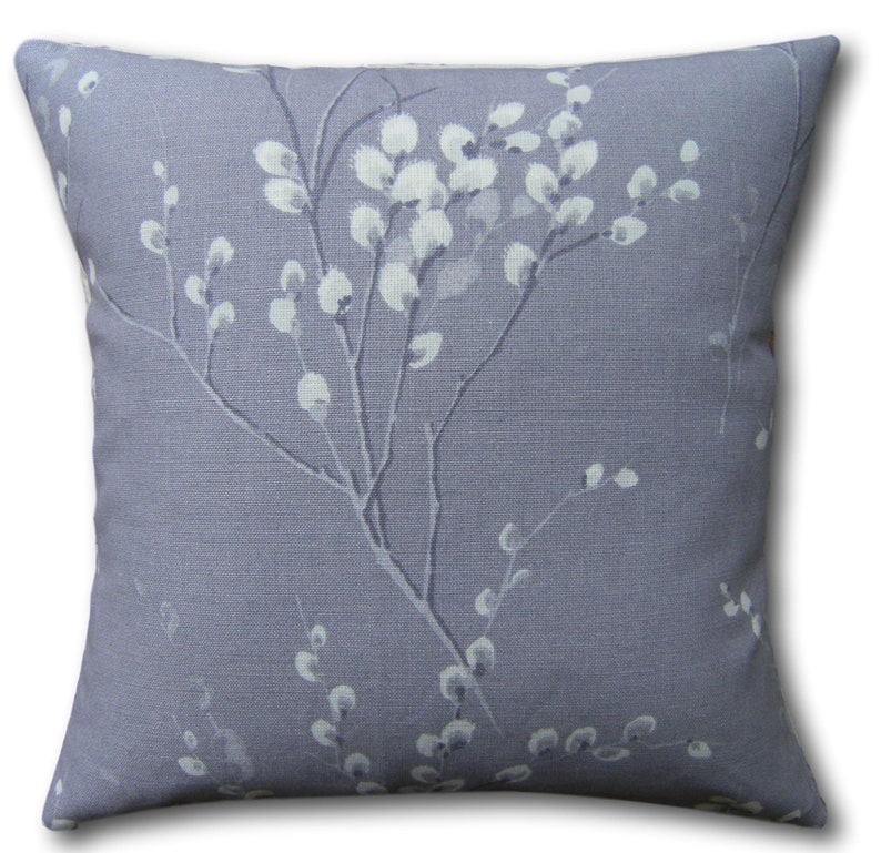 Designer Cushion Covers Pussy Willow Pale Iris Laura Ashley image 0