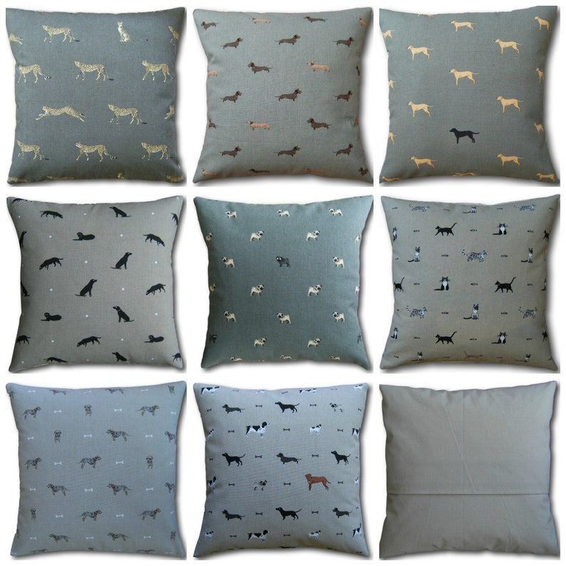 Designer Cats & Dogs Cushion Covers made with Sophie Allport image 0