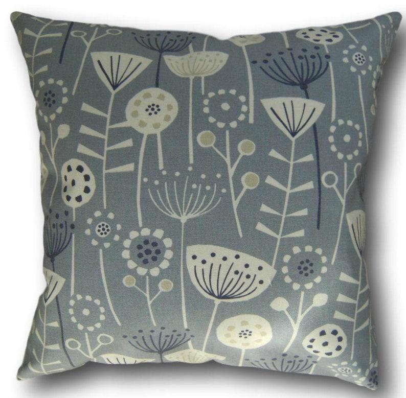 Cushion Covers made with Fryetts Scandinavian Blue Bergen image 0