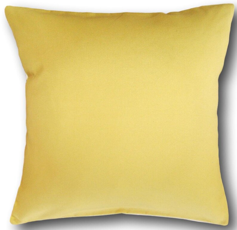 Yellow Cushion Covers Panama Gold Plain Scatter Throw Cushions image 0