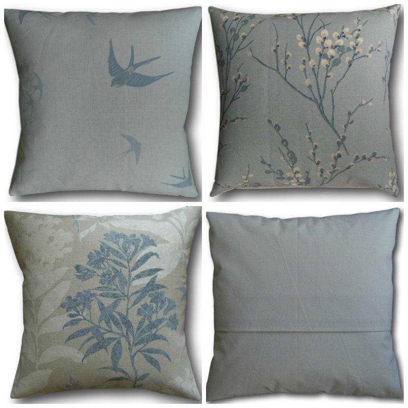 Designer Cushion Covers handmade in Laura Ashley Seaspray Blue image 0