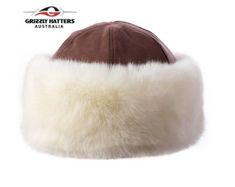 429bff979c255 Elegant Cossack Hat - Warm Ladies Faux Fur Hat - Roller Hat - Adjustable  size - Premium Quality Faux Fur in Natural Sheepskin Colour