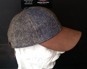 Harris Tweed WOOL CAP patchwork Perfect Gift made from certified organic  wool from Scotland 025d6b45c0d6