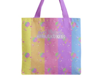 Rainbow Cotton Candy Tote Bag
