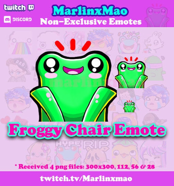 Froggy Chair Emote Animal Crossing Inspired Etsy