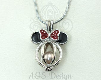 New 1PCS Pea Shape Cage Pendant,Locket Charms,Pearl Cage Pendant,Locket Cage pendants For Akoya Pearl Oysters With Pearls,Bulk Wholesale-187
