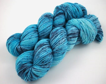 Inkstains in Light - Hand Dyed Speckled Sock Yarn - SW 60/25/15 - Superwash Merino Bamboo Nylon - 450 yards - Hime